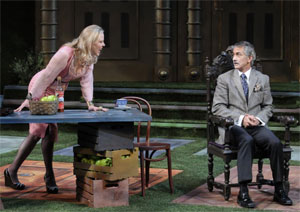 Kathryn Meisle and David Strathairn in Leaving (Photo courtesy Wilma Theater)