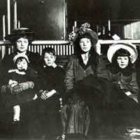 An historic photograph of an Irish-American family.