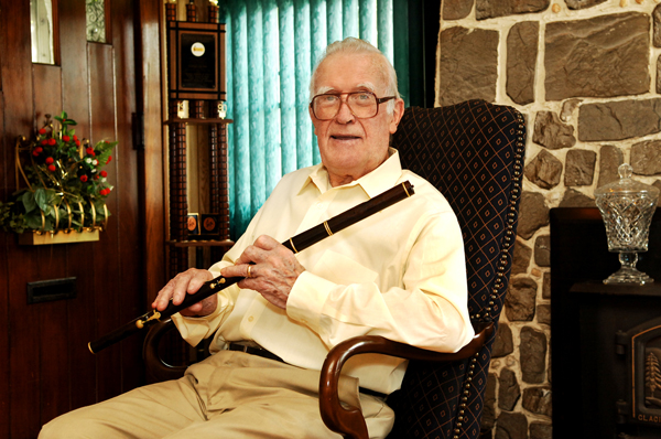 Traditional flute player Mike Rafferty