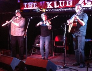 Joanie Madden, Eileen Ivers, wailing at New York Trad Fest