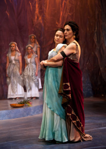 The proud Dionyza of Tarsus (Jacqueline Antaramian) and Marina, her lovely ward (Lindsey Kyler). Photo:  ©Jerry Dalia