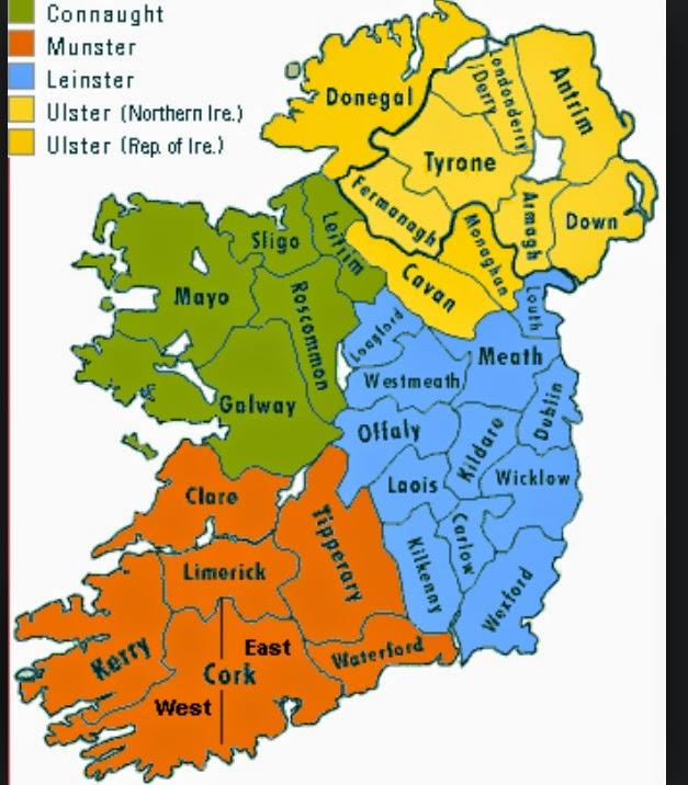 Map Of Ireland 32.Ireland S 33rd County Found