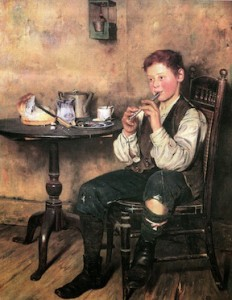"""The Tinwhistle Boy"" by Charles Spencelayh"