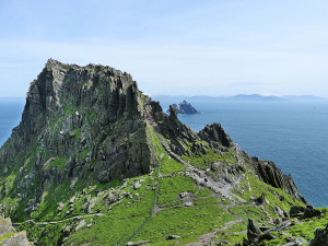 Skellig Michael was used for the final scene, the meeting of Luke and Rey. (Wikimedia Commons)