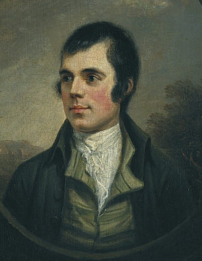 Robert Burns (1759-1796), portrait by Alexander Naysmith